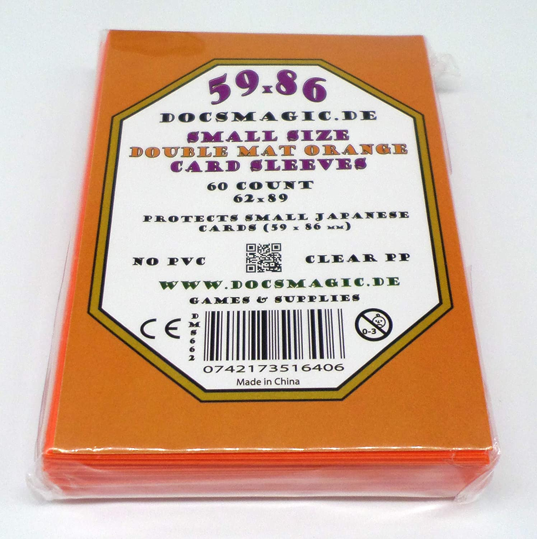 Mini Bustine docsmagic.de 4 x 60 Double Mat Yellow Card Sleeves Small Size 62 x 89 Giallo YGO