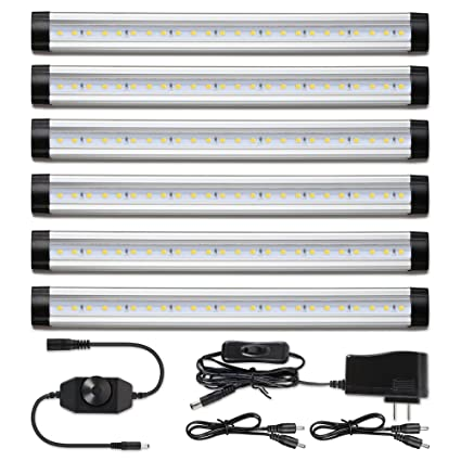 100% authentic 5be81 f1b27 Albrillo LED Under Cabinet Lighting, Dimmable Under Counter Light Strips  for Kitchen Closet Shelf Cupboard, 24W 2000 Lumen, Warm White 3000K, 6 Pack