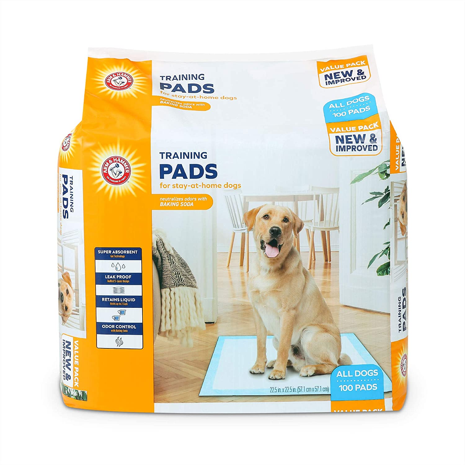 Arm & Hammer for Dogs Puppy Training Pads with Attractant | New & Improved Super Absorbent