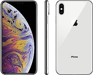 Apple iPhone XS, 256GB, Silver - Fully Unlocked (Renewed Premium)