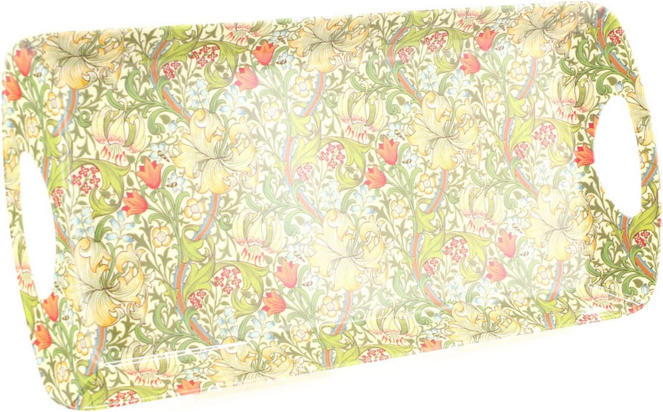 William Morris Pimpernel Floral Melamine Tray Small Medium Large with Handles