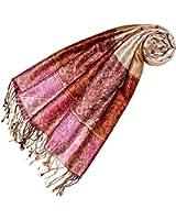 LORENZO CANA - Pashmina - Imprimé Cachemire - Femme Red Brown Pink Beige Taille unique