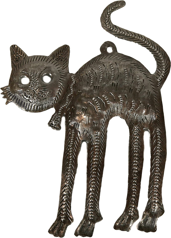 Small Seahorse Metal Ocean Life Sculpture Fair Trade Artwork From Haiti Indoor or Outdoor Use