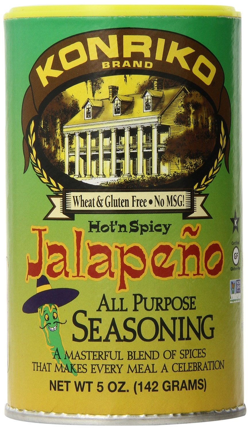 Konriko Jalepeno Seasoning, 5-Ounce Cans (Pack of 6)