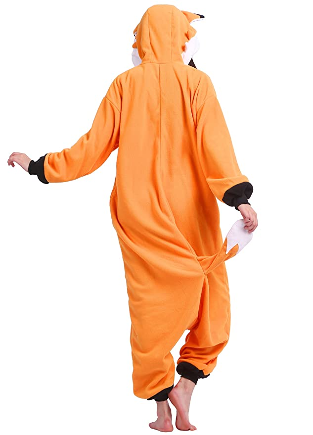 Amazon.com: Unisex Adult Animal Pajamas Plush One Piece Cosplay Fox (148-187cm): Clothing