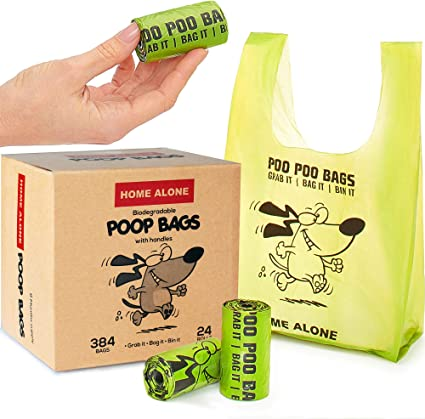 Home Alone - Bolsas para Caca de Perro con Asas, para Perros ...