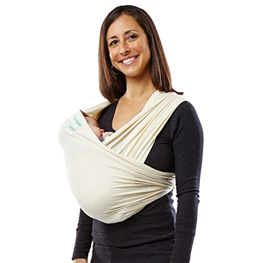 Baby K'tan – Organic Baby Carrier, GOTS Certified Cotton Sling Wrap, Multiple Ways to Wear – Natural, Small