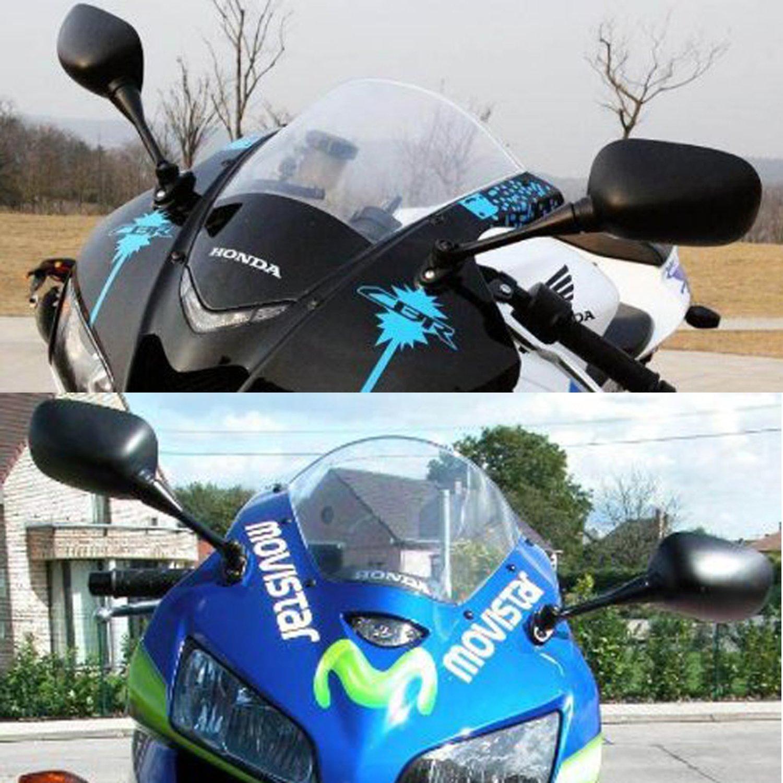 WASTUO 2003-2012 Honda CBR600RR 1000RR 2004-2006 Negro OEM Estilo de Racing Espejos Izquierda y Derecha Conjunto