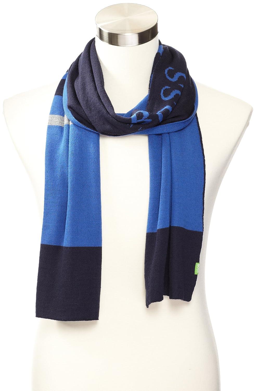 HUGO BOSS Men's Green Scarf Blue One Size 50247280