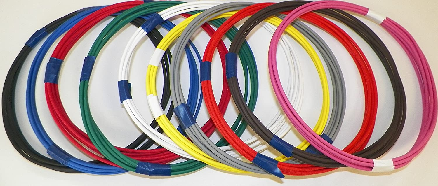 22 TXL 2 SOLID COLORS 25 FEET EACH 50 FEET TOTAL HIGH TEMP AUTOMOTIVE POWER WIRE