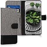 kwmobile Oppo Find X 用 ケース - スマホカバー 手帳型 PUレザー - 携帯 保護ケース カードポケット スタンド 付き
