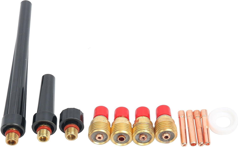 YaeTek TIG Welding Accessory Kit Cup-Gas Lens-Collet-Gasket-Back Cap 0.040-1//16-3//32-1//8 for Torch 9//20//25 Yaemart Corportation
