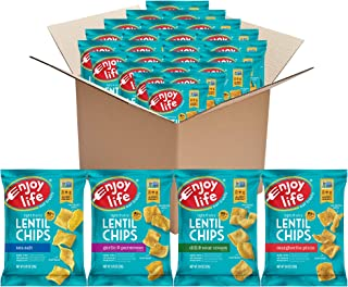 product image for Enjoy Life Lentil Chips Variety Pack, Dairy Free Chips, Soy Free, Nut Free, Non GMO, Vegan, Gluten Free, 24 Bags (0.8 oz)