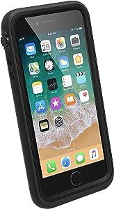 Funda Impermeable iPhone 8 Plus con Correa de Catalyst, Material de Grado Militar a Prueba de Impactos y caídas, natación, Accesorios para cruceros, iPhone 8 Plus Waterproof Case - Negro