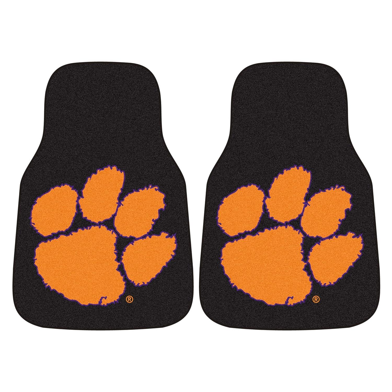 FANMATS NCAA Clemson University Tigers Nylon Face Carpet Car Mat