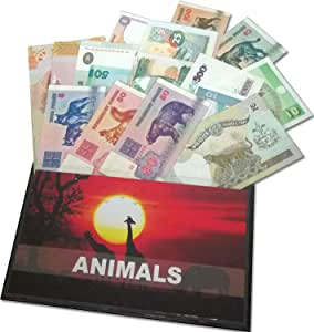 IMPACTO COLECCIONABLES Billetes del Mundo - Colección de Billetes - 17 Billetes Diferentes de Animales: Amazon.es: Juguetes y juegos