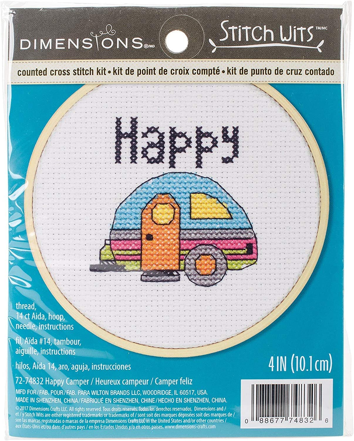 4 Dimensions Camper-Stitched in Thread Short N Sweet Mini Embroidery Kit