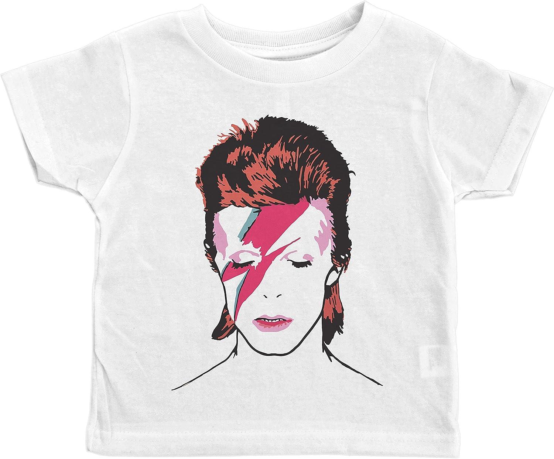 David Bowie ZIGGY STARDUST Album Art 1-Sided Print Poly Cotton T-Shirt