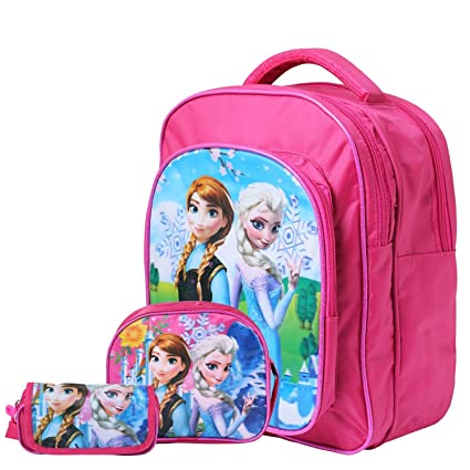 41e61433f7 OKJI 14 Inches Stylish School Bag - Combo For Girls- Kids Back Pack combo  (Set Of 3) Age Group (2-5 yrs)  Amazon.in  Bags