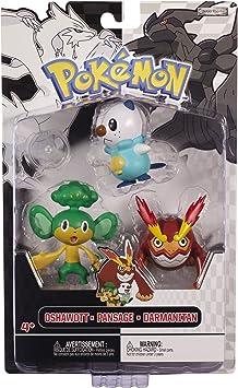 Jakks Pacific - Pack Figurines - Pokémon Oshawott - Pansage ...