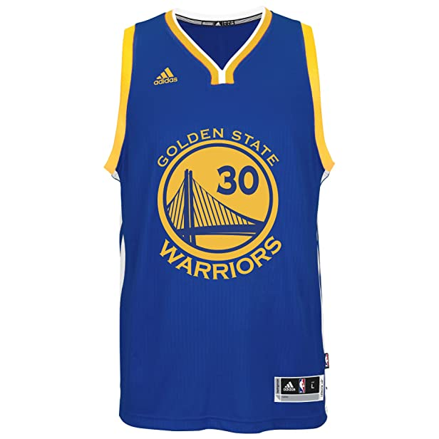 adidas Stephen Curry Men's Blue Golden State Warriors Swingman Jersey