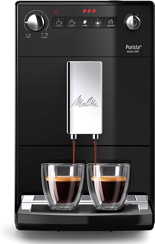 Melitta Purista F230-102, Cafetera Automática con Molinillo Silencioso, 15 Bares, Café en Grano, Limpieza Automática, Personalizable, Negro: Amazon.es: Hogar