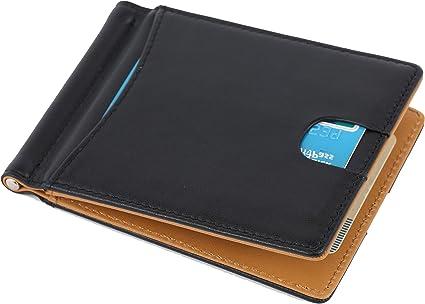 PORTADOCUMENTI portafoglio portacarte di credito slim con ferma soldi