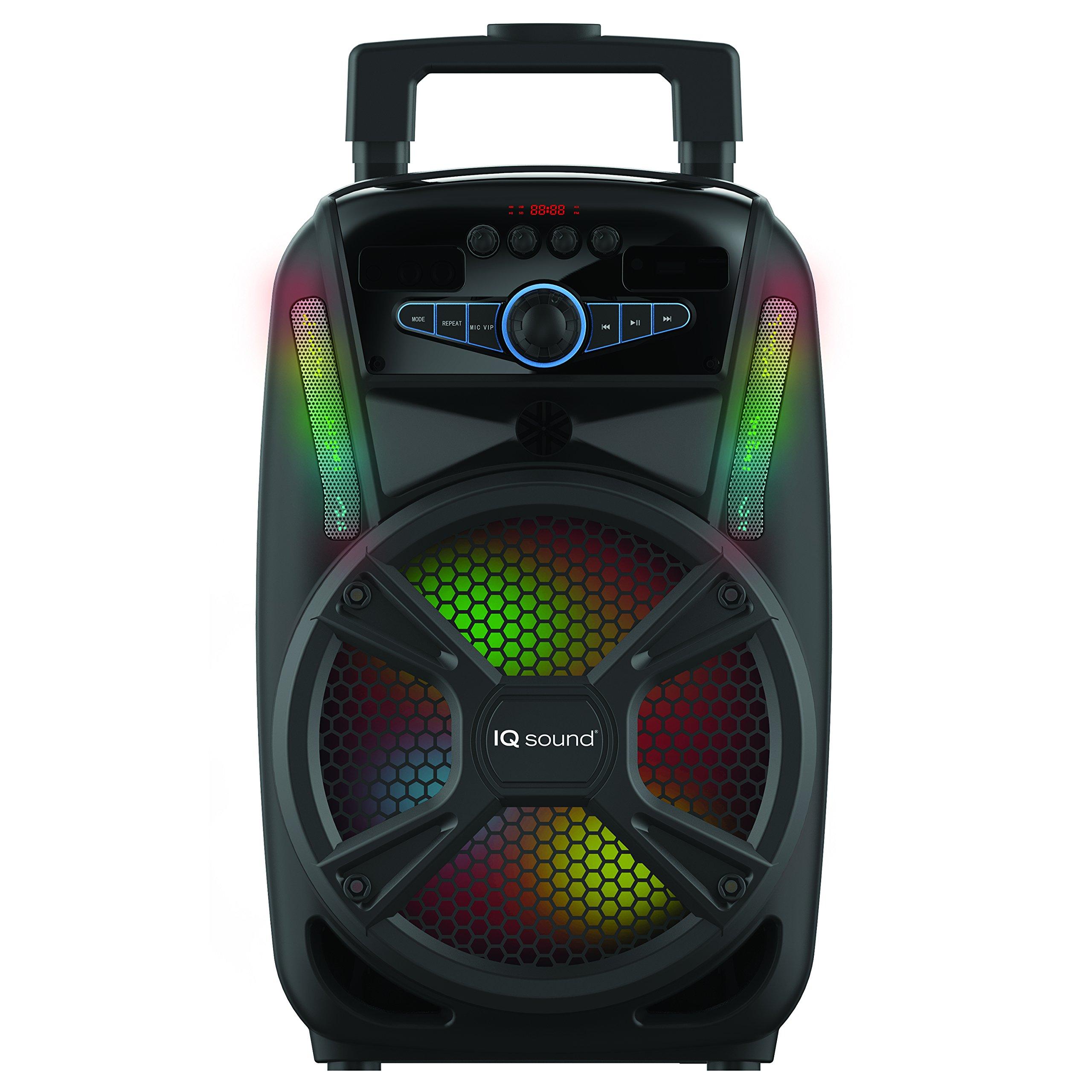 Supersonic Tailgate Bluetooth Speaker 8-inch, Black (IQ-4408DJBT)
