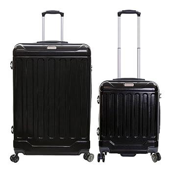 b648fc4c130 Jeep Canyon 80 cm XL and 55x40x20cm Cabin Size Hard Shell Luggage Set  (Black)