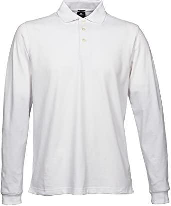 Mens Stretch Long Sleeve Polo blanco xxx-large: Amazon.es: Ropa y ...