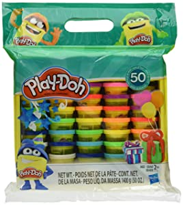 Play-Doh Modeling Compound 50- Value Pack Case of Colors , Non-Toxic , Assorted Colors , 1-Ounce Cans