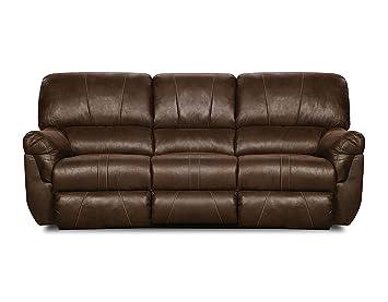 Superb Simmons Upholstery Renegade Beauty Rest Motion Sofa, Mocha