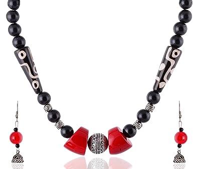 e73dc9e76cccb Buy Rai Collection Women Fashion Designer Black Beaded Silver ...