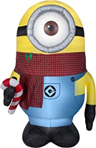 Gemmy Christmas Inflatable 8.5' Giant Stuart w/ Plaid Scarf   Airblown Inflatable
