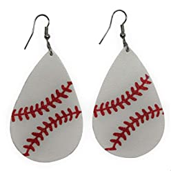 4dd82ba807e Cocomo Soul Leather Baseball Teardrop Earrings