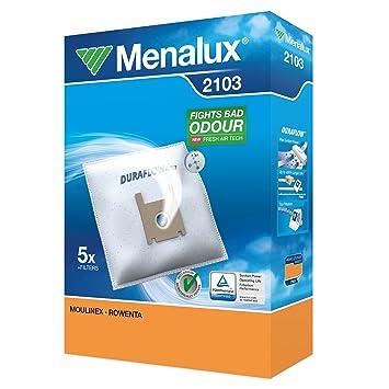 Menalux 2103 - Set de 5 Bolsas para Moulinex, Rowenta