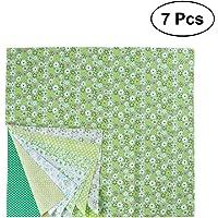 ULTNICE 7pcs Patchwork Textilien Baumwollstoff DIY N/ähen Quilten Stoffe Rosa