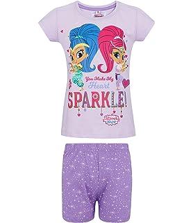 rosa Shimmer und Shine M/ädchen Shorty-Pyjama