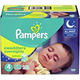 Diapers Size 4, 58Count - Pampers Swaddlers Overnights Disposable Baby Diapers, Super Pack