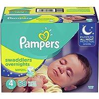 Pampers Overnight Pañales Etapa 4, 58 Piezas