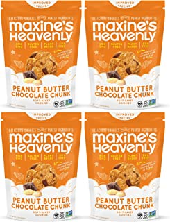 product image for Maxine's Heavenly - Vegan, Gluten Free, Soy Free, Non-GMO - Peanut Butter Chocolate Chunk cookies - 7.2 ounce bags (4 pack)