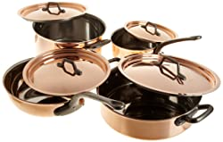 Best copper cookware: Matfer 915901 8 Piece Bourgeat Copper Cookware Set