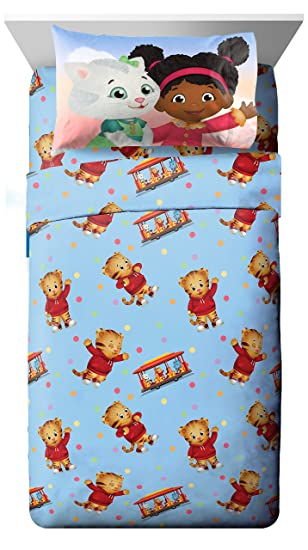 PBS Kids Daniel Tiger Treehouse Pals Twin Sheet Set