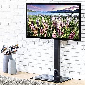 Fitueyes Meuble Tv Pied Support Pivotant Pour Téleviseur Ecran Lcd