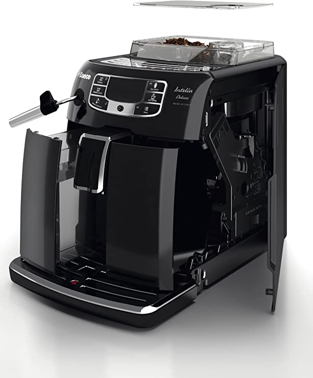 Saeco Intelia Deluxe Cafetera expreso súper automática, 1900 W ...