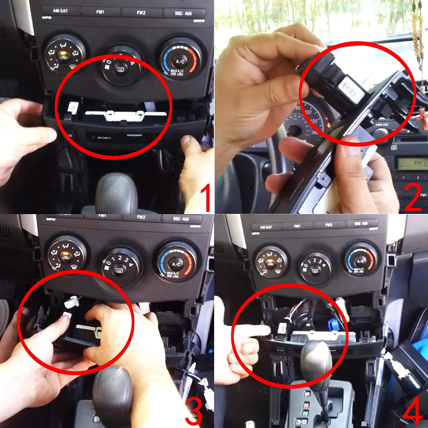 Toyota Aux Port 86190-02010 Corolla Jack Tundra Aux Auxiliary Input Adapter Audio Repair Parts Replacement Car Radio Kit for Camry RAV4 Tacoma Highlander Sienna Matrix 2007-2015