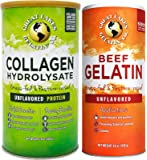 Great Lakes Gelatin, 16 Oz Cans: (1) Unflavored Kosher Beef and (1) Unflavored Kosher Collagen Hydrolysate