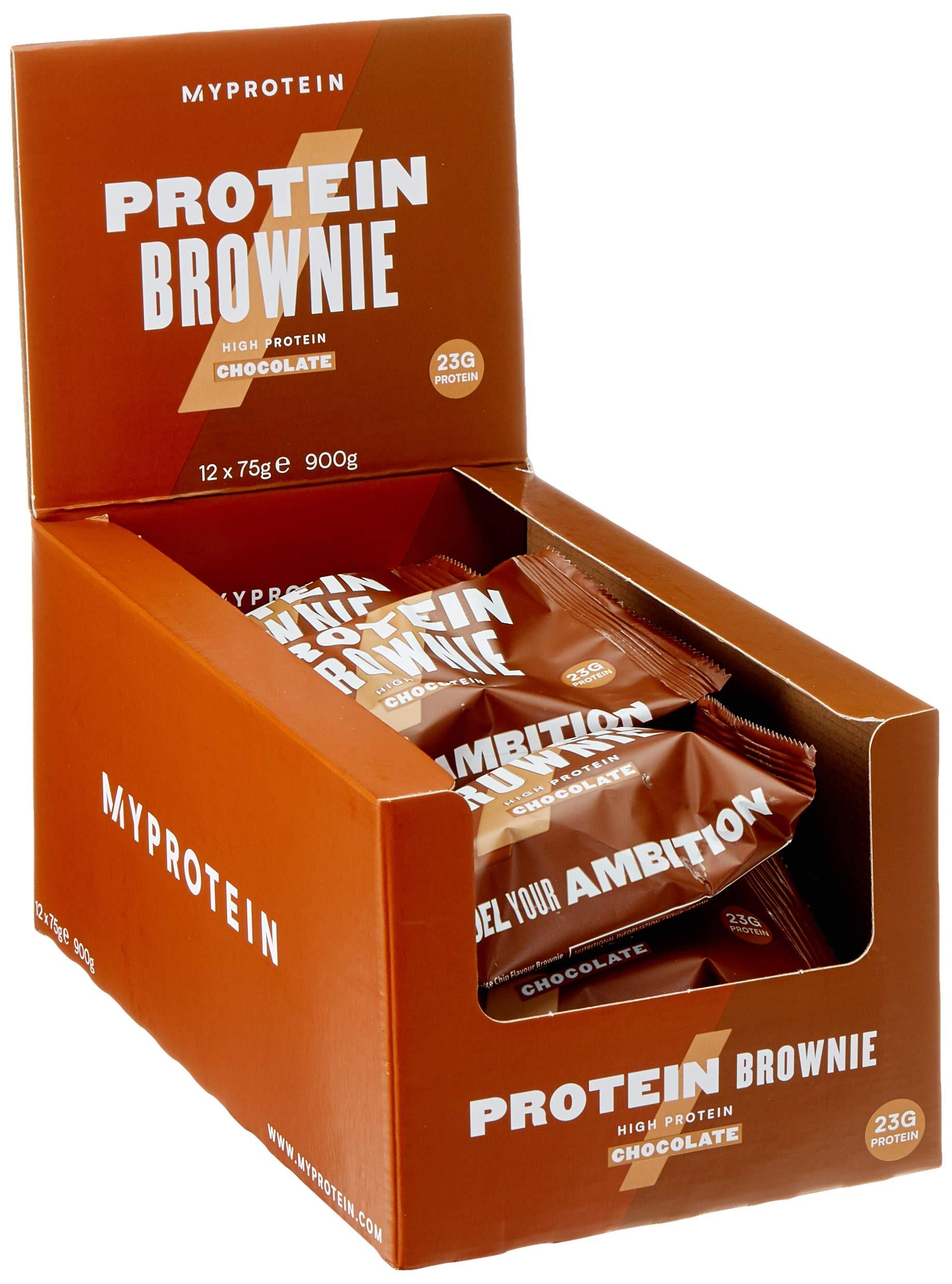 MyProtein Protein Brownie, Chocolate Chip, 23g Protein, (12 Pack) by Myprotein (Image #5)