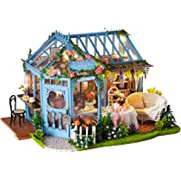 Kisoy Romantic and Cute Dollhouse Miniature DIY House Kit Creative Room Perfect DIY Friends, Lovers and Families (Rose…
