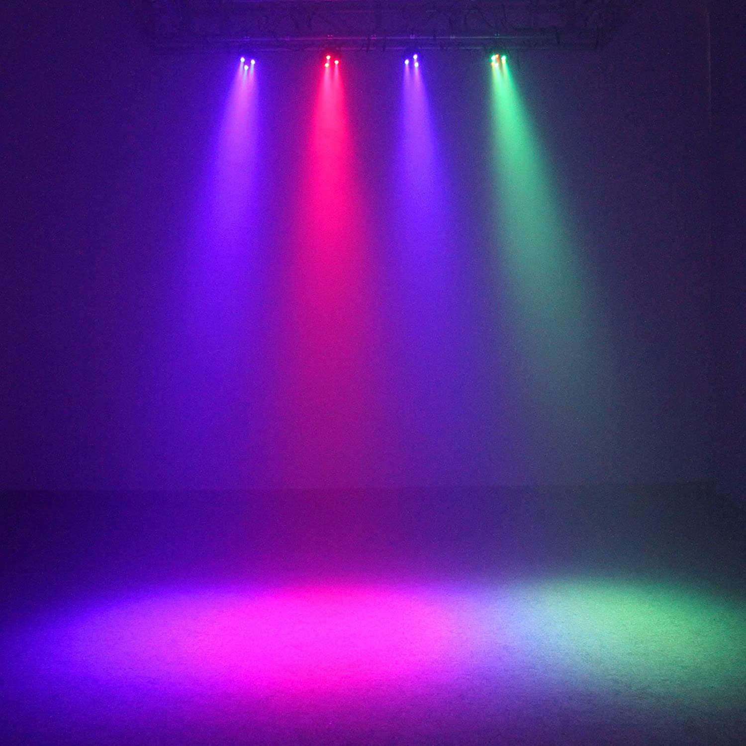 Amazon TSSS RGBW Mixing Color 12 LED Par Can Light DMX 8CH Stage Background Lighting For Party Show Wedding Live Concert 4 Pack Musical Instruments
